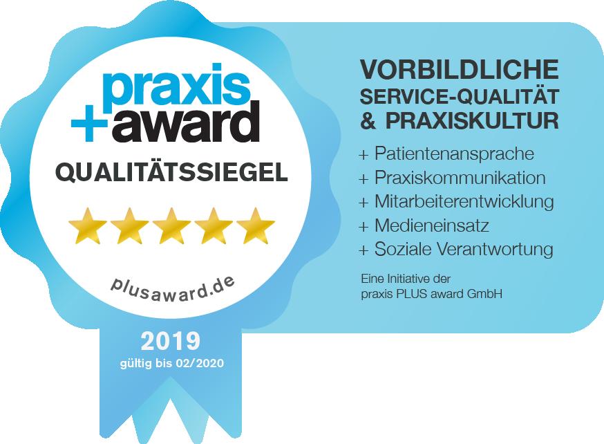 Qualitätssiegel Praxis+Award | Zahnarzt Köln PAN Klinik